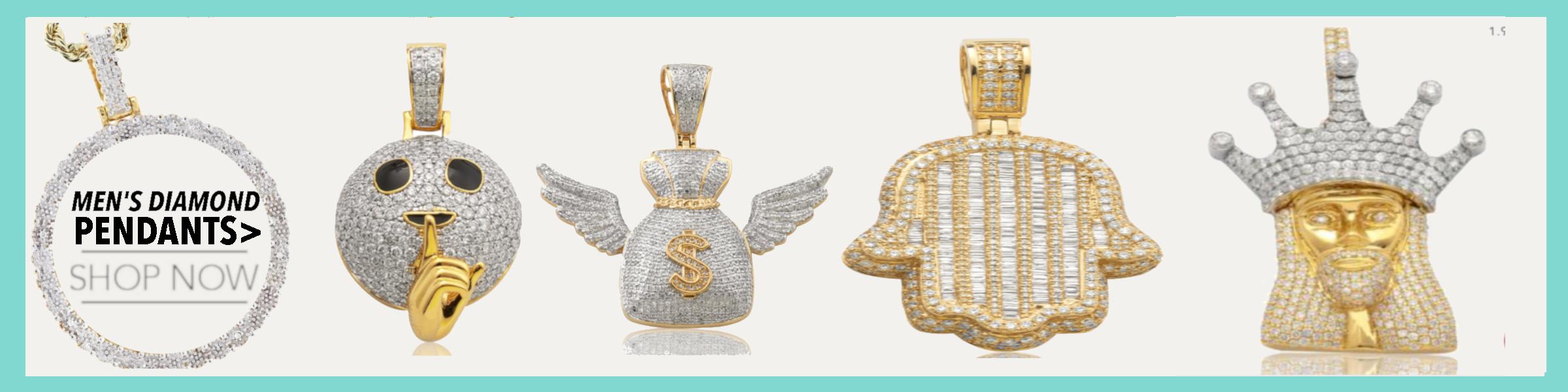 Men Diamond Pendants